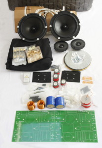 Some of the parts which go into each set of Reference Rhapsody loudspeakers