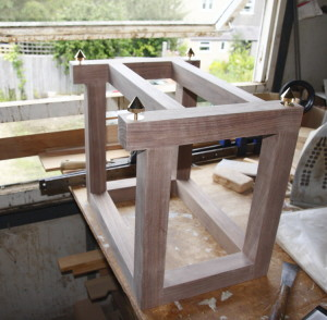 Completed stand awaiting Danish oil finish
