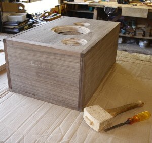 A Rhapsody 'speaker cabinet near to completion